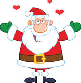 Santa Claus With Open Arms Wanting A Hug — Stock Photo