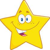 Star Cartoon Mascot Character — Stock Photo