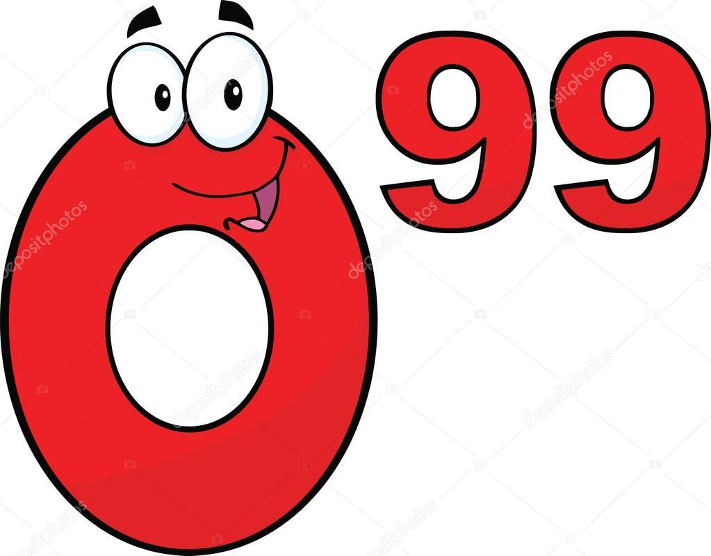personaje de dibujos animados de n u00fameros rojos 0 99 precio price tag clipart png price tag clip art free