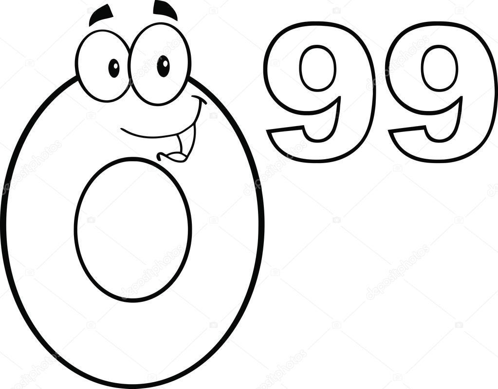 cartoon number tag