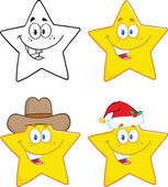 Stars Cartoon Characters. Collection Set — Stock Photo