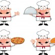 Chef Cartoon Characters 1 Collection Set — Stock Photo