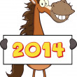 Horse Cartoon Mascot Character — Stock Photo