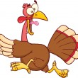 Turkey Escape Cartoon Character — Stock Photo