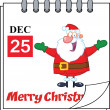 Christmas Holiday Calendar With Jolly Santa Claus With Open Arms — Stock Photo #34891873
