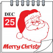 Stock Photo: Christmas Holiday Calendar With Classic SantClaus Head