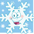 Snowflake Cartoon Mascot Character — Stock Photo #35843155