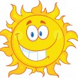 Smiling Sun Cartoon Mascot Character — Stock Photo #38482137