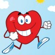 Healthy Heart Jogging — Stock Photo