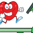 Healthy Heart Running On Treadmill — Stock Photo #38607445