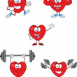Hearts Cartoon Characters Collection Set — Stock Photo #39507497