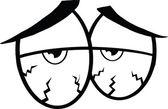 Black And White Sick Cartoon Eyes — Stock Photo