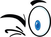 Winking Cartoon Eyes — Stock Photo