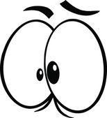 Black And White Crazy Cartoon Eyes — Stock Photo