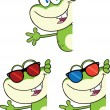 Frog Character 3 Collection Set — Stock Photo #41246621