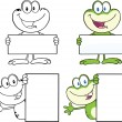 Frog Character 13 Collection Set — Stock Photo