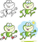 Frog Character 9 Collection Set — Stock Photo