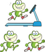Frog Character 14 Collection Set — Stock Photo