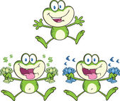 Frog Character 16 Collection Set — Stock Photo