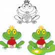 Smiling Bride Frog  Set Collection — Stock Photo #41423845