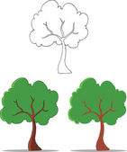 Cartoon Tree  Set Collection — Foto Stock