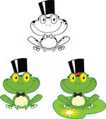 Smiling Groom Frog Character  Set Collection — Stock Photo