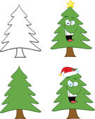 Christmas Tree Character  Set Collection — Stock Photo