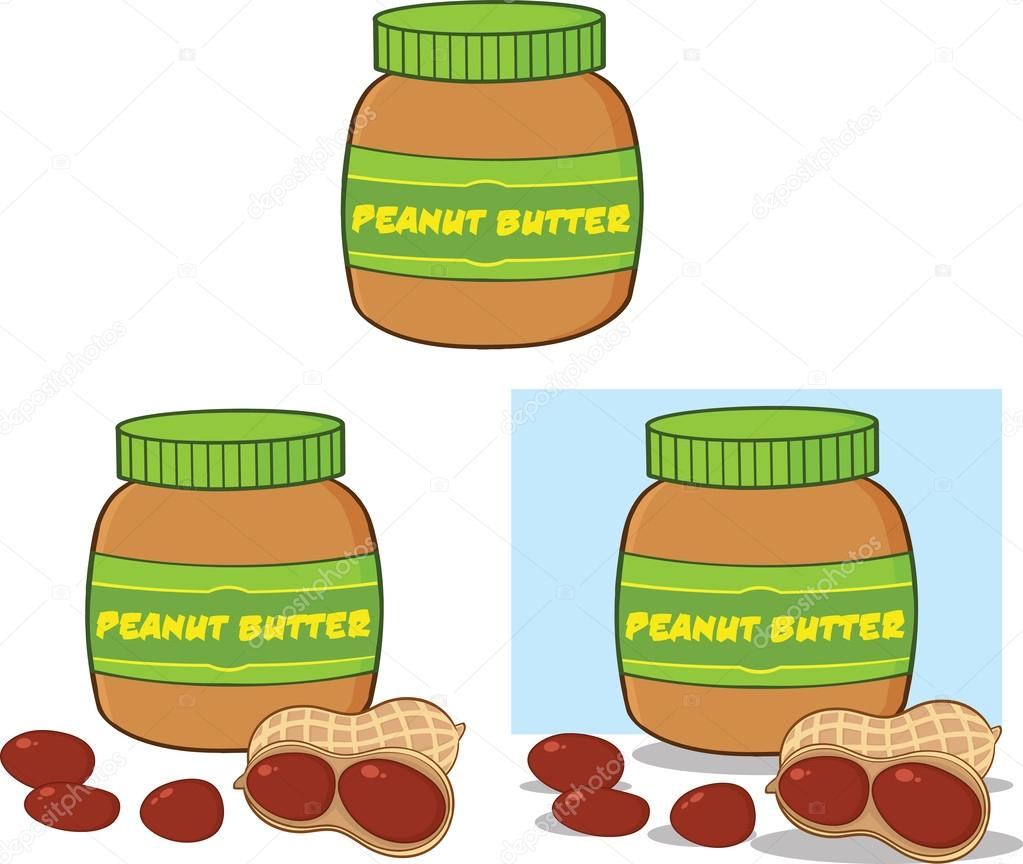 Peanut butter jar cartoon