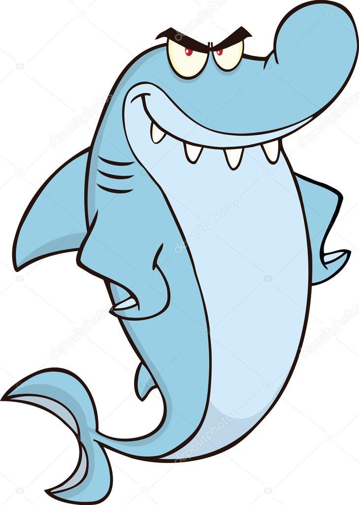 Personnage de dessin anim de requin en col re photographie hittoon 41556779 - Requin en dessin ...