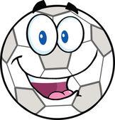 Glad fotboll boll seriefigur — Stockfoto