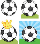Soccer Balls  Set Collection — Stock Photo
