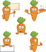 Carrot Cartoon Characters 2  Set Collection — Stock Photo