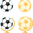 Soccer Ball Desk Globe. Collection Set — Stock Photo