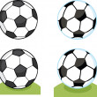 Cartoon Soccer Balls Collection Set — Stock Photo