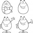 Egg Cartoon Characters 2  Collection Set — Stock Photo #42886635