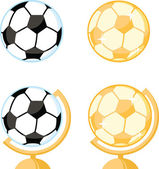 Soccer Ball Desk Globe. Collection Set — Stockfoto