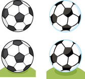 Cartoon Soccer Balls  Collection Set — Foto de Stock