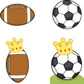 Different Balls With Crown  Collection Set — Stock Photo