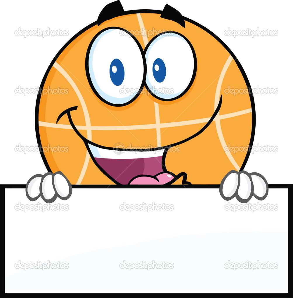 Personnage de dessin animé drôle de basket-ball sur signe vierge — Photographie HitToon © #43289985