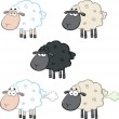Funny Sheep Cartoon Characters 1  Collection Set — Stock Photo #43392555