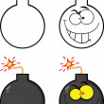 Crazy Evil Bomb Cartoon Character Collection Set — Stock Photo #43392571