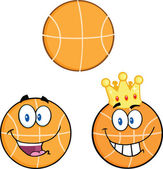Basketball Cartoon Character  Collection Set — Stock Photo
