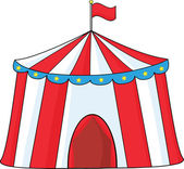 Big Circus Tent  Illustration Isolated on white — Stock Photo