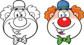 Clown Face Cartoon Character  Collection Set — Stock Photo