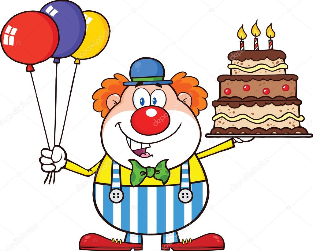 Birthday Cake Images With Cartoon Character : Personagem de desenho animado de palhaco de aniversario ...