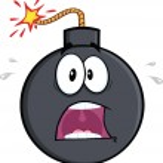 Scared Bomb Cartoon Character — Stock Photo #44261973