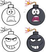 Bomb Cartoon Characters 1. Collection Set — Stock Photo
