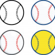 Постер, плакат: Baseball Balls Collection Set
