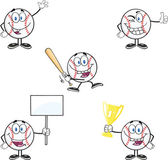 Baseball Ball Cartoon Characters 1  Collection Set — Stock Photo