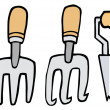 Collage Of Wood Handled Gardening Tools — Stock Photo #4725014